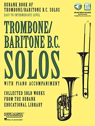 Rubank Book of Trombone/Baritone B.c. Solos: Easy to Intermediate - Includes Online Audio Stream or Download