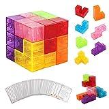 PROACC magnéticos Cubo mágico Puzzle, Bloques de construcción...