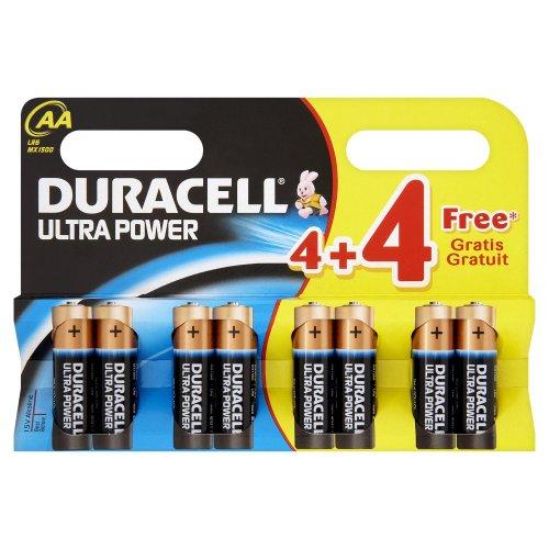 Duracell-pile 1,5v Lr06 Ultra Power Duracell - Blister De 4 + 4 Offertes