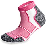 3 Pairs More Mile New York Cushioned Coolmax Sports Running Sock - Pink