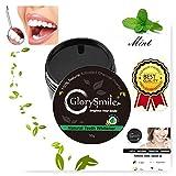Carbone Attivo Denti,Charcoal Powder,Sbiancamento Denti Carbone Attivo Naturale,di Polvere di Carbone Attivo, Aroma di Menta