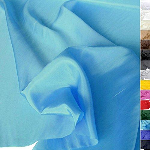 Futterstoff / Deko-Stoff zum Nähen - Leicht, Halb-Durchsichtig aus Polyester (Türkis) (Kleid Zum Günstigen Preis)