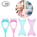 TRAVELMALL-Set in 4 -Mascara Aplicador para Pestañas Rimel Peine SombraY Delineador de Ojos Retira los excesos-Diseño moda y Usa Fácil-Alta calidad
