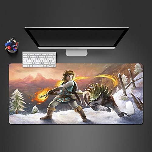 Tänze von Menschen und Wölfen Mauspad Gamer Mousepad Mode Computer Tastatur Schreibtisch 3mm * 90x40cm (Menschen Cartoon Wenig)
