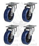 Tente robuste-ruote/ruote girevoli, 10cm, Blu, girevole per Flightcase