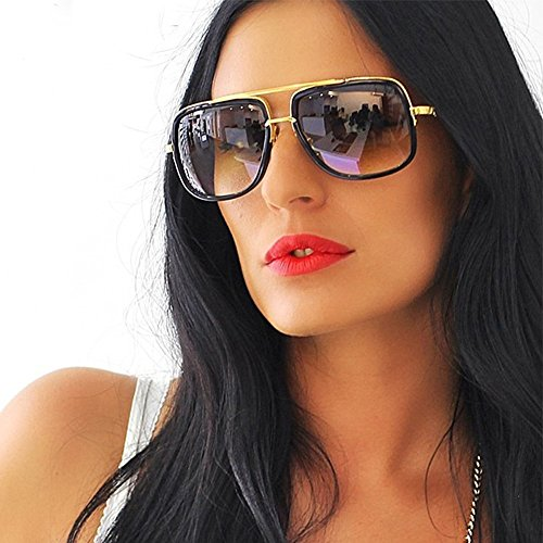 Longra Sonnenbrillen Mode Damen Oversized Eckige Sonnenbrille Übergroße Sonnenbrille Vintage Retro Mode Katzenauge Brille Sonnenbrille Super Coole Damenbrillen Frauen Cat Eye Sunglasses