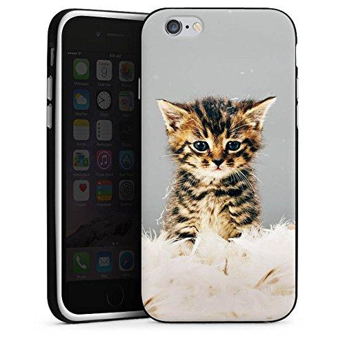 Apple iPhone X Silikon Hülle Case Schutzhülle Baby Katze Kitty Cat Silikon Case schwarz / weiß