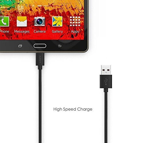 Sachdeal Charging & Data Cable for Asus Zenfone Pegasus 3 Micro USB Sync Cable|Quick High Speed Upto 2.4 Amp Data Transfer V8 Cable - Black