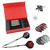 YAS Darts Dartpfeile, 6 Stück Soft Darts Pfeile Set für Elektronische Dartscheibe mit Kunststoff Dart Spitzen 18 Gramm Aluminium Schaft
