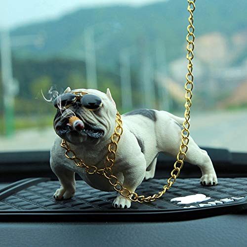 ZRK Car Ornaments-Social Dog Pendant-Car Personality Trend Shaking Head Puze Portrayed Expression Rich Fashion Cool-Perfect Car Companion Trustworthy,blackandwhite (Hula-mädchen-affe)