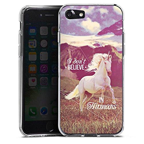 Apple iPhone X Silikon Hülle Case Schutzhülle Einhorn Unicorn Sprüche Silikon Case transparent