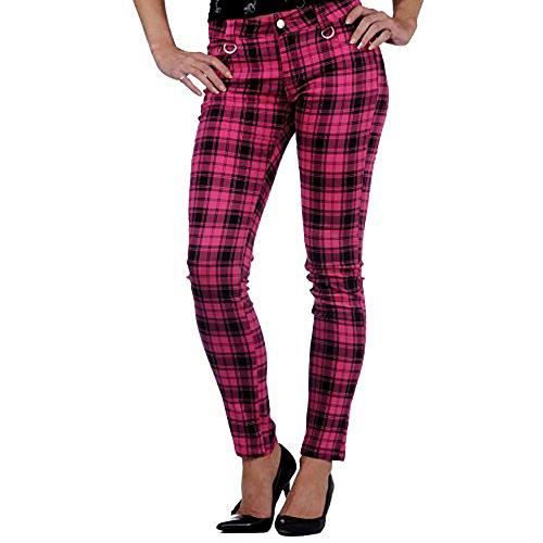 Jawbreaker Pantalón Check Pants Rosa Rosa 38