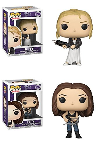 Funko POP Buffy The Vampire Slayer 20th Anniversary Buffy Faith Vinyl Figure Set NEW
