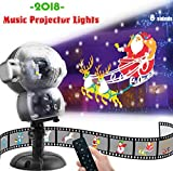 JEENSO Snow Falling Animated Projector Outdoor Halloween Christmas Decorations LED Projection Lights