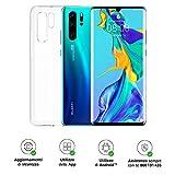 Huawei P30 Pro (Aurora) Smartphone + Cover Trasparente, 8GB RAM, Memoria 128GB, Display 6.47' FHD+, Processore Kirin 980, Quadrupla Fotocamera 40+20+8MP, Sensore TOF, SuperZoom 50x, [Italia]