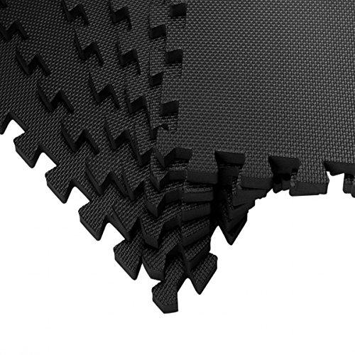 bonsport Schutzmatten-Set   6 x Puzzle Matte á 60 x 60 cm   Sportmatte Schutzmatte Bodenschutzmatte für Fitnessgeräte