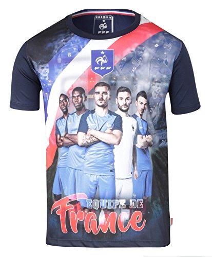 Maillot Team FFF - Collection officielle Equipe de France de Football - Taille enfant garçon 10 ans