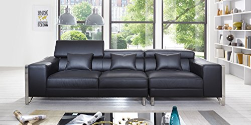 big sofa leder schwarz bestseller shop f r m bel und einrichtungen. Black Bedroom Furniture Sets. Home Design Ideas