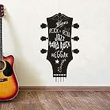 wukongsun Gitarre Jazz Blues Musik Typ Studio Vinyl Wand Dekorative Aufkleber Kopf Vinyl Wandmalerei Schwarz 31x57 cm
