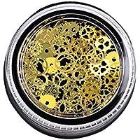 fish 1box Nail Art Dekoration Scheibe Sequin-Goldnagel-Aufkleber Ultra Thin-Rad-Zahnrad-Form-Nagel-Aufkleber preisvergleich bei billige-tabletten.eu