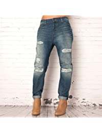 Pour Maison Scotch Boyfriend Jeans en denim