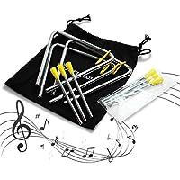 stargoods música triángulos con varillas de Metal + 3extra Sticks (Set de 3)