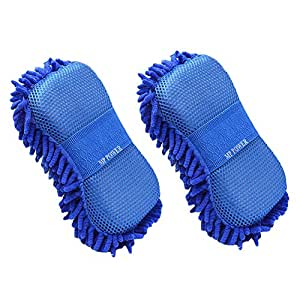 MP power @ Microfiber Car Washing Sponge Mitt Cleaning Glove cleaning brush 2 pieces for vehicles automotive cleaning alloy wheels cars Motorcycle Window Auto Cleaner