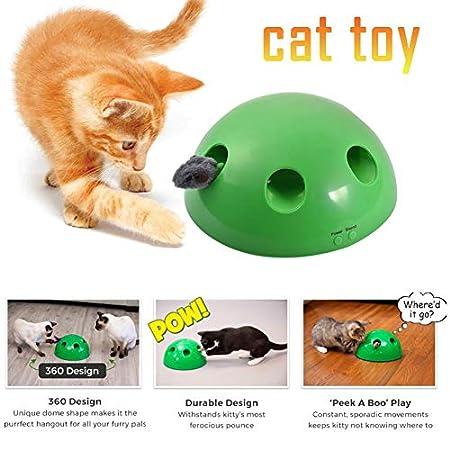 Katzenspielzeug Play Pet Toy Ball, interaktives Katzenspielzeug, Katzenkratzgerät Lustiges Katzenspielzeug…
