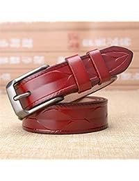 f3f93592e6ba38 GQFGYYL-PD Damen Gürtel aus echtem Leder für Mittelalter und Jugendliche,  Gules, ...