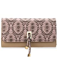 Bmc Womens Sunflower Floral Design Faux Leather Rfid Protection High Capacity Card Slot Clutch Wallet By B.M.C