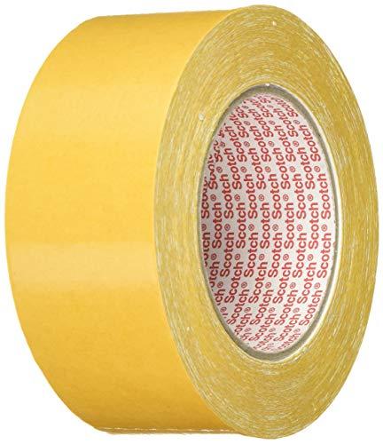 3M Doppelseitiges Klebeband 9191 in Weiß 50mm x 25m - Verlegeband für Klebearbeiten verschiedener Werkstoffe und Textilien - 1-er Pack