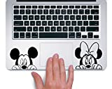 Mickey and Minnie TRACKPAD Sticker Aufkleber Boo (Schwarz)
