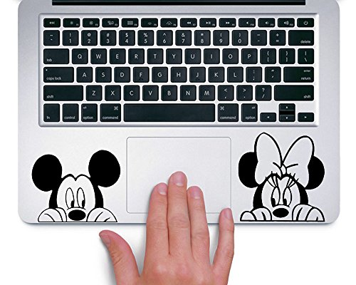 Mickey and Minnie TRACKPAD Sticker Aufkleber Boo - Sticker Disney Mac-laptop