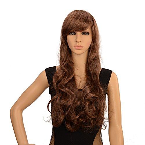 Cheveux-longs-boucls-Wave-des-Perruques-pour-femme-Tte-complte-Cheveux-Chocolat-Brun-clair-Cosplay-Lolita-Perruque-de-fte-ou-Vie-quotidienne-Perruque-et-peigne