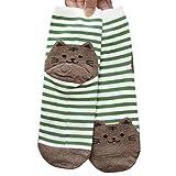Socken Longra 3D Tiere gestreifte Cartoon Socken Frauen Damen Katze Fußabdrücke Baumwolle Socken...