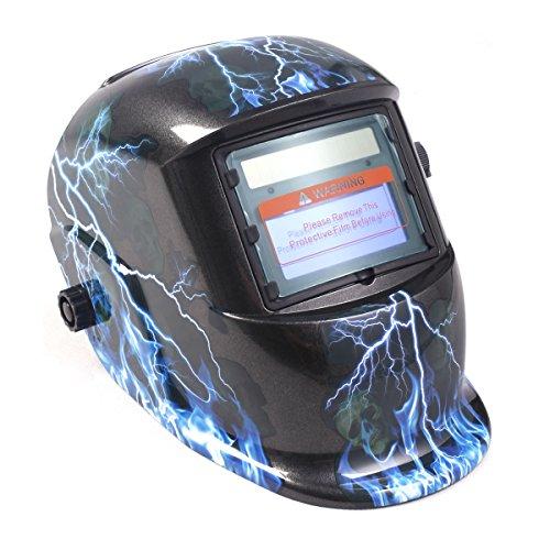 Fds auto oscurante casco saldatura maschera arc saldatori tig mig grinding solare alimentato (lightning skull)