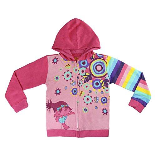 Trolls Sudadera para Niñas con capucha (4 años)