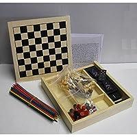 Spielekiste 4 in 1 / Mikado Dame / Spielbox Domino Schach