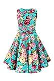BlackButterfly Kinder 'Audrey' Vintage Divinity Kleid im 50er-J-Stil (Türkis, 11-12 J / 146-152)