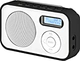 Imperial DABMAN 12 tragbares Digitalradio (DAB+/UKW, LCD Display, Akku, 3x AAA Batteriebetrieb) weiß