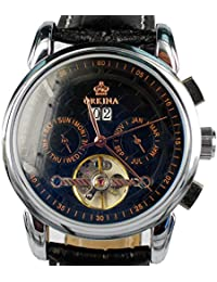 ORKINA ORK-0241 - Reloj , correa de cuero color negro
