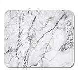 Schreibtischunterlage,Graue Carrara Carara Marmor Italien Weiße Abstrakte Antike Architektur Mausunterlage, 18 * 22Cm