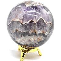 Preisvergleich für Healing Crystals India Chevron Amethyst Kugel Natur Lila Kristall Rare Quarz Poliert Kugeln Mineralstein 55-60...