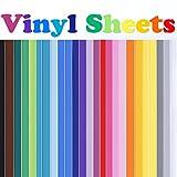 Rabbitgoo Klebefolie Vinylfolie Selbstklebefolie farbige Plotterfolie aufkleber folie Vinyl für DIY 40 Blätter 30.5cm x 30.5cm