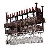 Weinregal an der Wand/Hängende Weinglas-Rack-Decke/Weinflaschenhalter/Bar schwimmende Regal/Deckendekorationsregal für Bars, Restaurants, Küchen/Stemware Rack