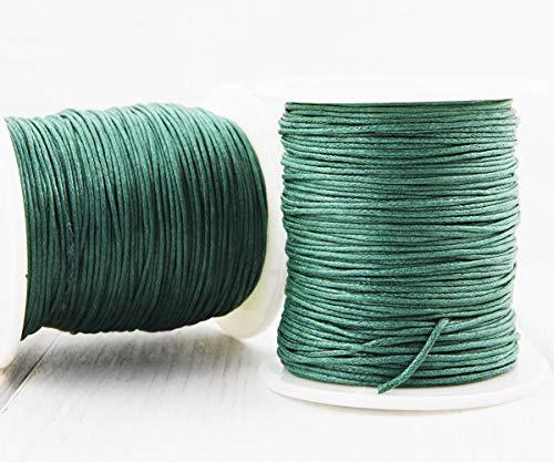 18,3 m 60ft 20yrd Wald Grün Gewachste Baumwolle Schnur Dekorativen Perlen Schnur Geflochtene Seil Verdreht Shamballa Armband Schnur 1mm .039in -
