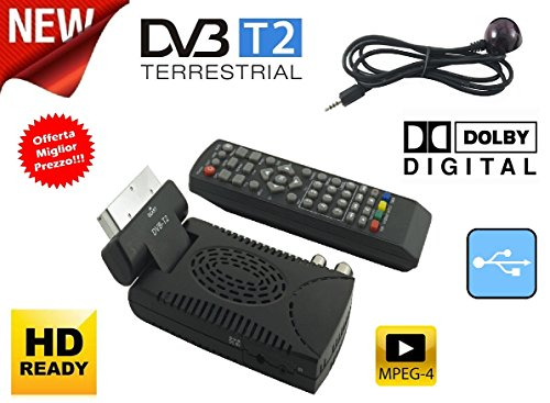 Décodeur Mini numérique terrestre DVB T2péritel 180USB HDMI HD 333
