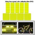 WENTS-Adesivi-Catarifrangenti-20PCS-Adesivi-Impermeabili-riflettoriRiflettenti-Stickers-Bici-Alta-visibilit-e-Sicurezza-Durante-la-Notte-BiciclettaPasseggiataFuoristradaCasco