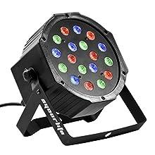 Eyourlife 18X3W Led Par Can Disco lights 54W RGB PAR64 DMX 512 Stage Lighting Party Show