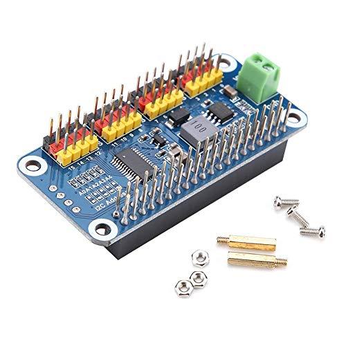 Bewinner Lenkungsaktuator-Treiberplatine 16-Kanal 12Bit-Auflösung für Raspberry Pi Null/Null mit/Nullpunkt WH / 2B / 3B / 3B +, Steuertreiberplatine PWM-Servomotor Treiber IIC-Schnittstelle